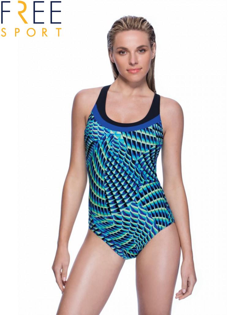 GOTTEX: בגד ים שלם, רצועות גב מוצלבות, חזיה מרופדת קלות