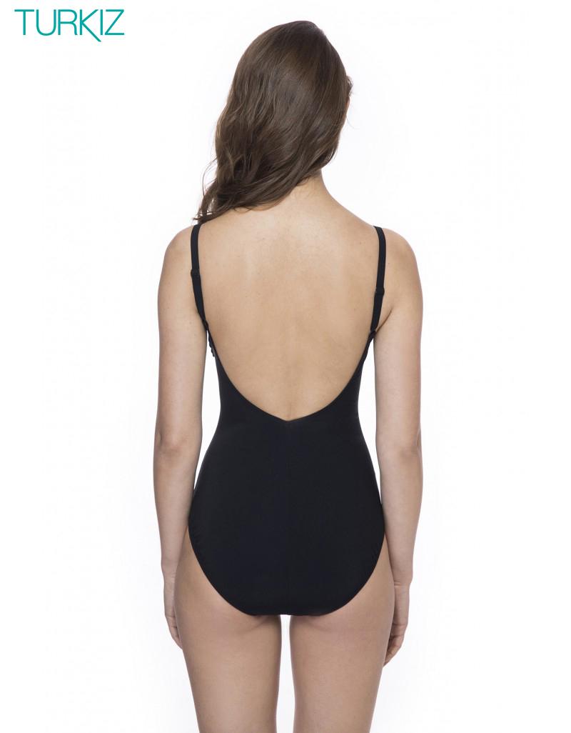 GOTTEX: בגד ים שלם , כתפיות מתכווננות, חזיה מרופדת קלות ומחטב בטן פנימי