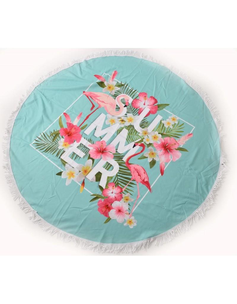 מגבת חוף עגולה פרחים